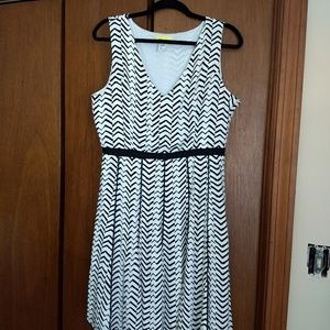 Modcloth Black & White Dress